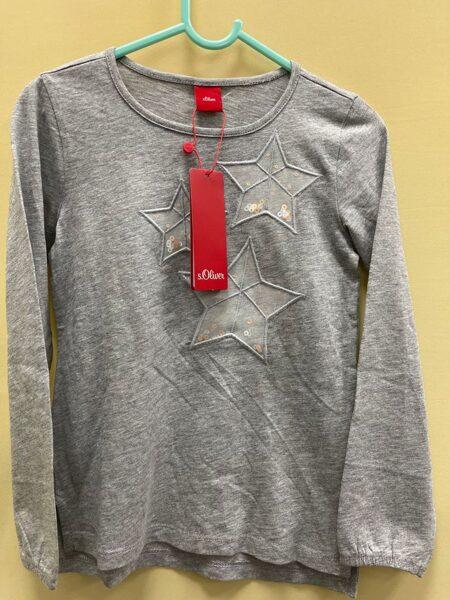 S.Oliver garroku krekls/116-122cm/6-7 gadi/Pelēks ar zvaigznēm