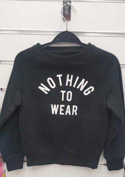 Džemperis ar siltinājumu 128cm/7-8gadi/Melns-Nothing to wear.