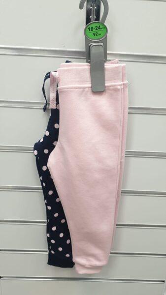 Siltie legingi 2gb/18-24mēn./92cm/Rozā+Tumšas ar rozā pumpām.