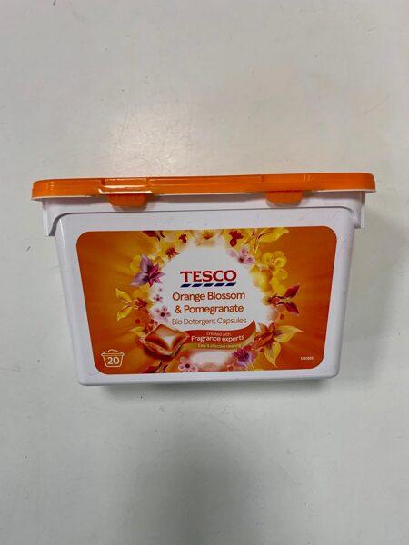 Tesco veļas mazgāšanas kapsulas/20gb/Orange Blossom