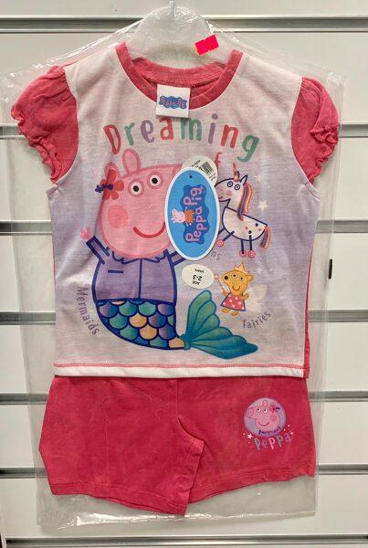 Pidžama īsās rokas/šorti; 2-3 gadi/Dreaming Peppa Pig.
