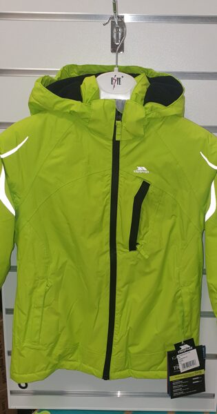 Ziemas termo kurtka 122-128cm/7-8gadi/Spilgti zaļa ar kapuci