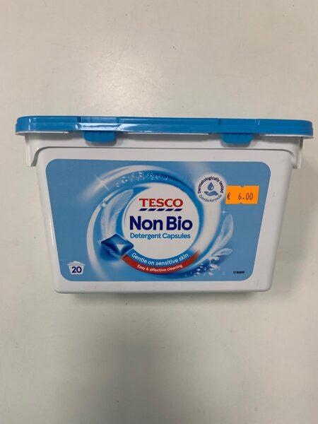 Tesco veļas mazgāšanas kapsulas/20gb/Non Bio