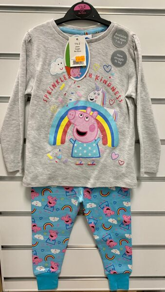 Pidžama garās rokas/kājas; 18-24mēn./86-92cm/Peppa Pig.
