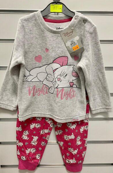 Pidžama garās rokas/kājas; 92cm/Augša-pelēka ar kaķi/Bikses-sarkanas ar kaķiem.