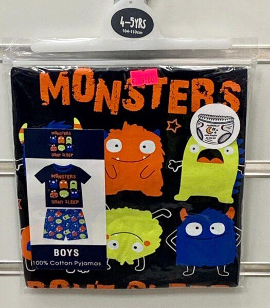 Pidžama zēniem/4-5 gadi/104-110cm/Monsters