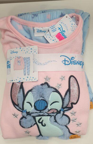 Pidžama siltā/garās rokas+garās bikses/140cm/Disney-augša rozā, bikses-zilas.