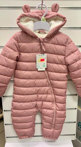 Ziemas/rudens kombinezons/12-18 mēn./86cm/Rozīgs, kapucis ar austiņām/FredFlo.