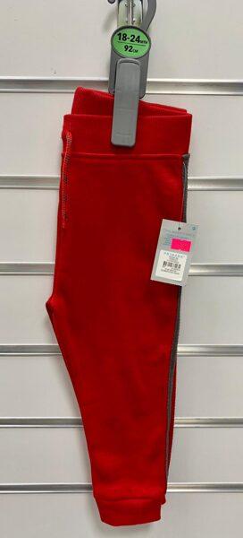 Sporta bikses 18-24mēn./92cm/Sarkanas ar brūnu svītru sānos.