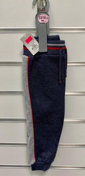 Sporta bikses 12-18mēn./86cm/Tumši zilas ar pelēkām, sarkanām svītrām sānos.
