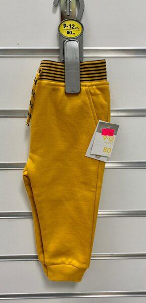 Sporta bikses/9-12mēn./80cm/Dzeltenīgi brūnas ar svītrainu jostas daļu.