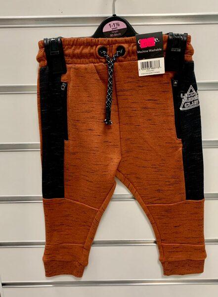 Sporta bikses/12-18mēn./80-86cm/Oranžīgi brūnas ar melnām svītrām sānos/George.