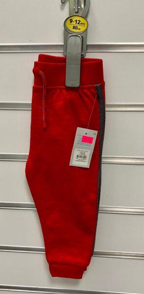 Bikses 9-12 mēn./80cm/Sarkanas ar melnu svītru sānos/Primark