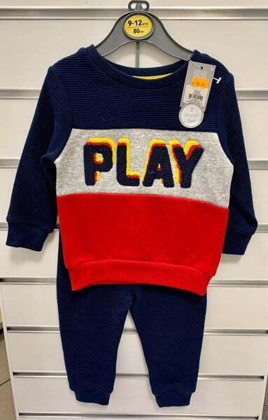 Džemperis Play ar tumši zilām biksēm/9-12 mēn./80cm