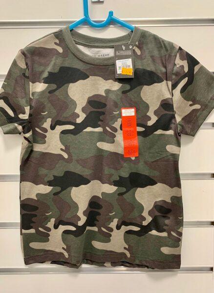 Īsroku krekls 6-7 gadi/122cm/Armijas krāsās