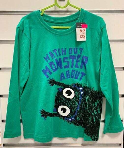 Garroku krekls 6-7 gadi/122cm/Zaļš ar monstru.