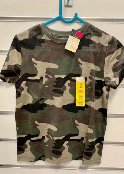 Īsroku krekls 5-6 gadi/116cm/Armijas krāsās.