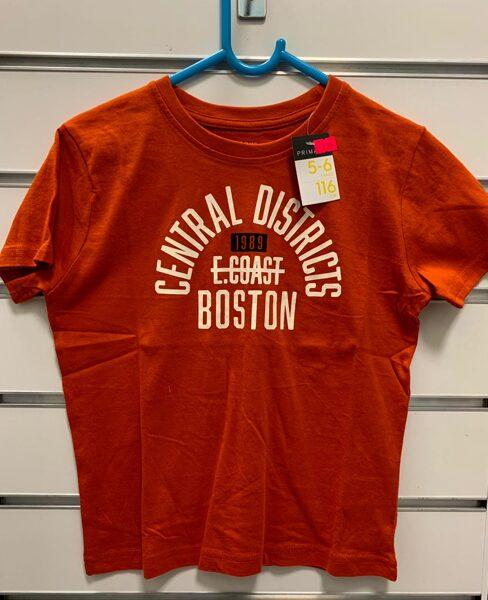 Īsroku krekls 5-6 gadi/116cm/Oranžs-Central Districts Boston