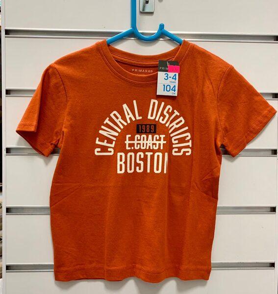 Īsroku krekls 3-4 gadi/104cm/Oranžs-Central Districts Boston