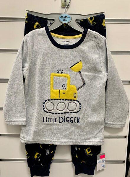 Džemperis+bikses/24-36 mēn./98cm/Ar dzelteniem traktoriem/Litle Digger.