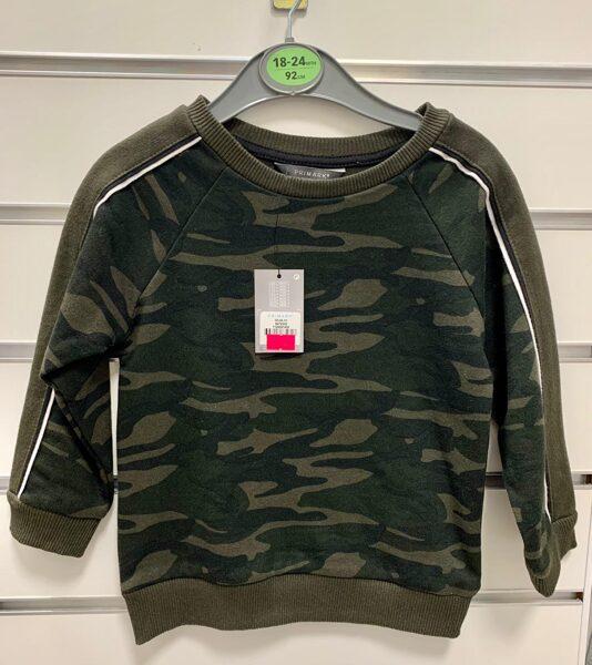 Džemperis 18-24 mēn./92cm/Armijas krāsās.