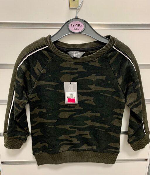 Džemperis 12-18 mēn./86cm/Armijas krāsās/Primark