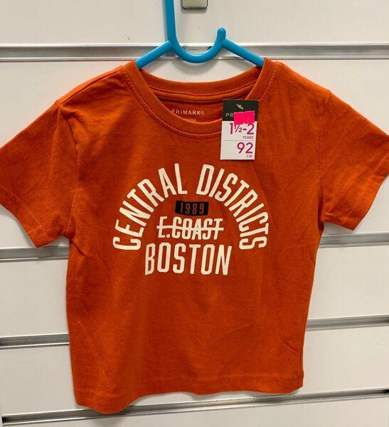 Īsroku krekls 18-24 mēn./92cm/Oranžs-Central Districts Boston