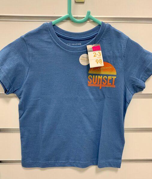 Īsroku krekls 2-3 gadi/98cm/Gaiši zils-Sunset