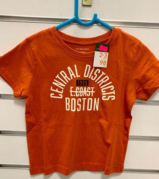 Īsroku krekls 2-3 gadi/98cm/Oranžs-Central Districts Boston
