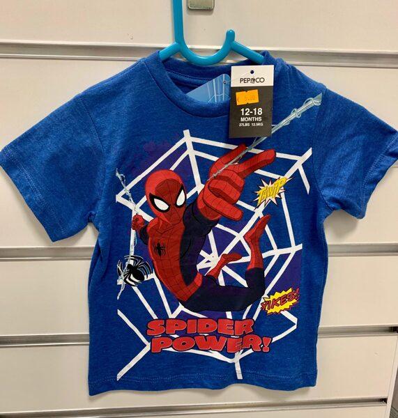 Īsroku krekls 12-18 mēn/Zils-Spider Power/Pepco