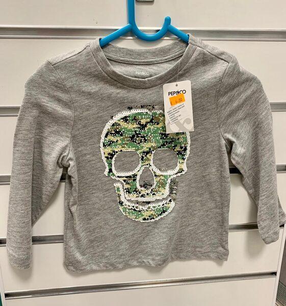 Garroku krekls 12-18 mēn./Pelēks ar miroņgalvu/Pepco