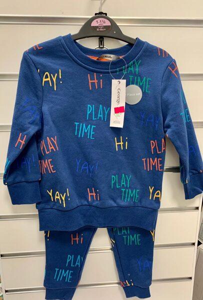 Džemperis ar biksēm/12-18 mēn./Zils-Play Time/George