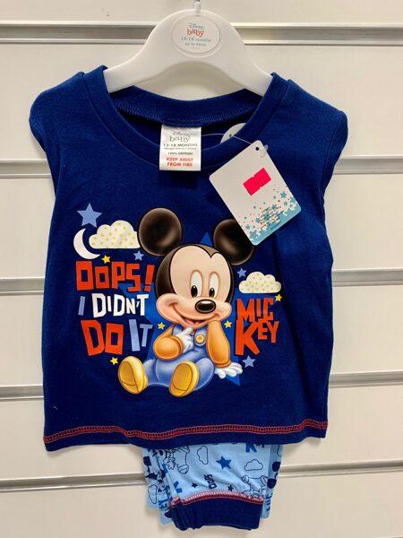 Garroku pidžama 12-18 mēn./Ar Miki peli/Oops! I didnt do it-Mic key