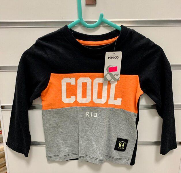 Garroku džemperis 9-12 mēn./Cool Kid/Melns, pelēks, oranžs/Pepco