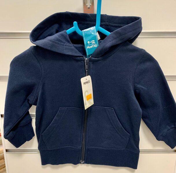 Tumši zila jaka ar rāvēju un kapuci/9-12 mēn./Pepco