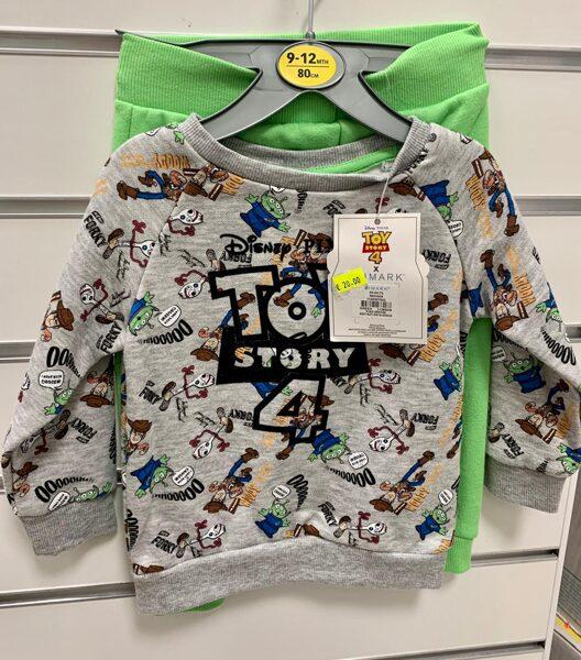 Džemperis ar biksēm/9-12 mēn./80cm/Zaļas bikses+Pelēks džemperis ar Toy story 4