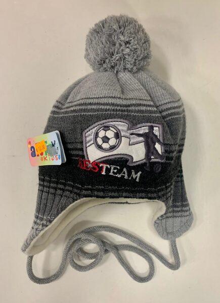 Cepure/Pelēka ar bumbuli, ar futbolbumbu/Bestteam.