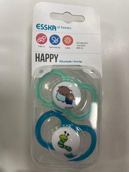 ESSKA/Happy knupīši 2gb/4-36 mēn./Zaļš ar lāčiem+Zils ar čūsku