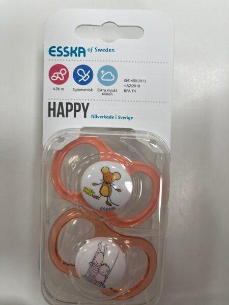ESSKA/Happy knupīši 2gb/4-36 mēn./Oranžs ar peli+Oranžs ar zaķi un lāci