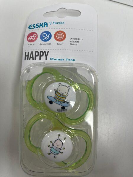 ESSKA/Happy knupīši 2gb/4-36 mēn./Gaiši zaļš ar lāci+Gaiši zaļš ar biti