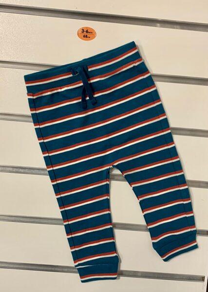 Bikses 3-6 mēn./68cm/Tumši zilas ar svītrām.