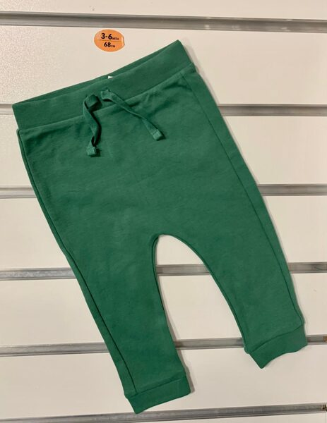 Bikses 3-6 mēn./68cm/Tumši zaļas.