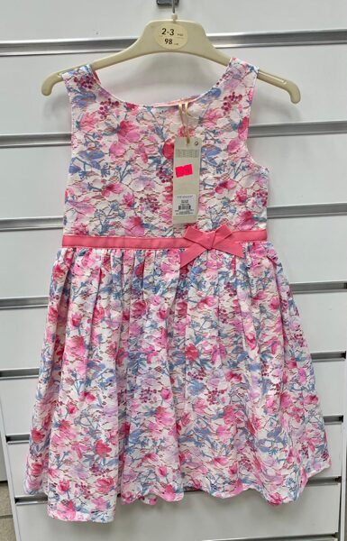 Vasaras kleita 2-3 gadi/98cm/Rozīgi puķaina