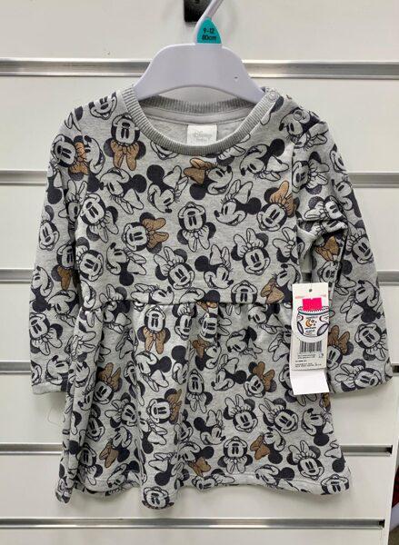 Garroku kleita 9-12 mēn./80cm/Pelēka ar Minnie Mouse