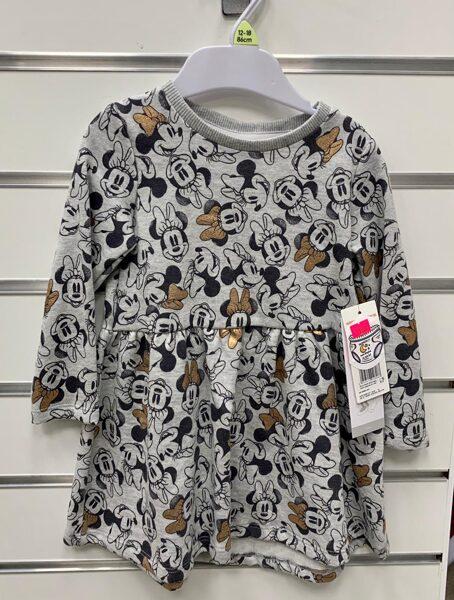 Garroku kleita 12-18 mēn./Pelēka ar Minnie Mouse