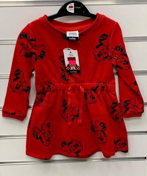 Garroku kleitiņa 12-18 mēn./Sarkana ar Minnie Mouse/George