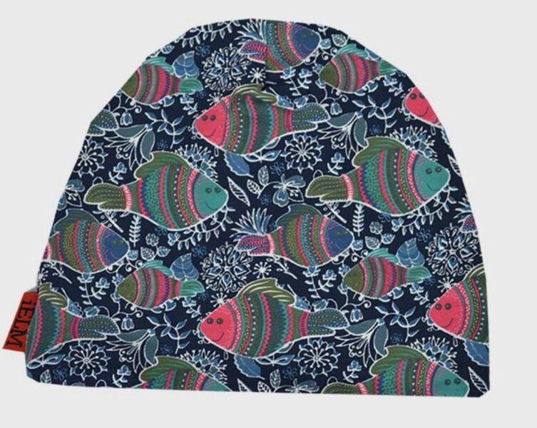 Pavasara cepure/izmērs 50/1-2 gadi/Ar zivs printu