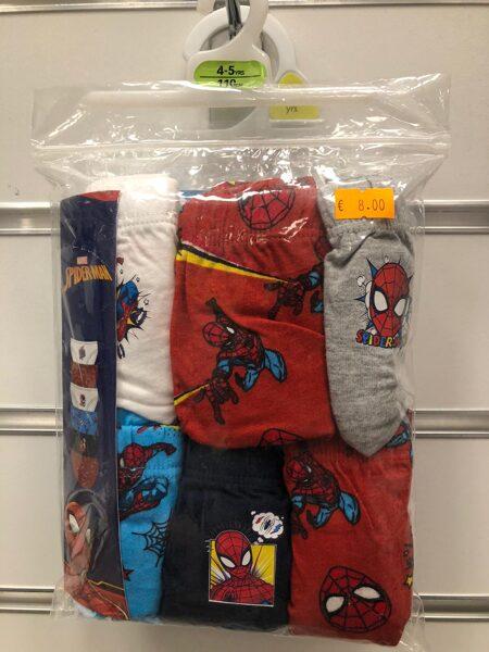 Apakšbikses zēniem 6gb/4-5 gadi/110cm/Spiderman.