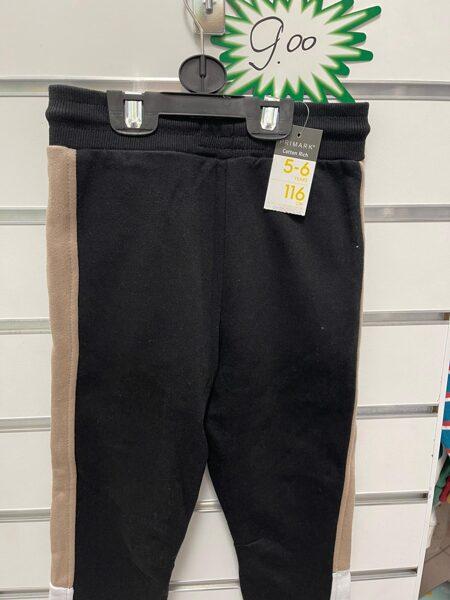 Sporta bikses 5-6 gadi/116cm/Melnas ar gaiši brūnām sānos.