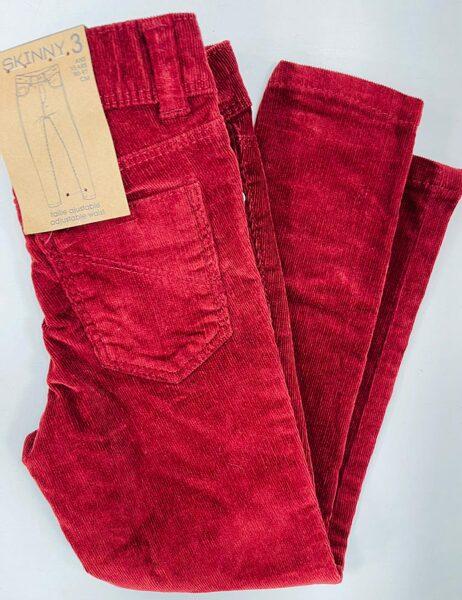 Velveta bikses Skinny 3 gadi/90-97cm/Sarkanas/Kiabi